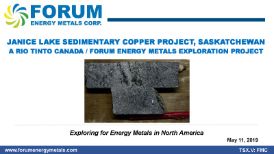 Janice Lake Sedimentary Copper Project: A High Grade, Open Pit Copper Discovery